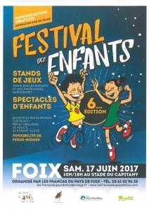Festival des Enfants 2017, Francas du Pays de Foix